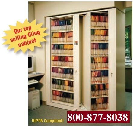 HIPAA Compliant Times Two, Rotating Shelving, Rotating Cabinet One Starter  One Add On